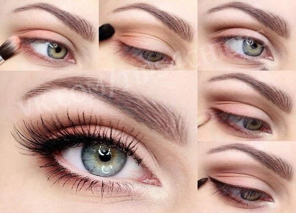 Макияжи легкий для зеленых глаз