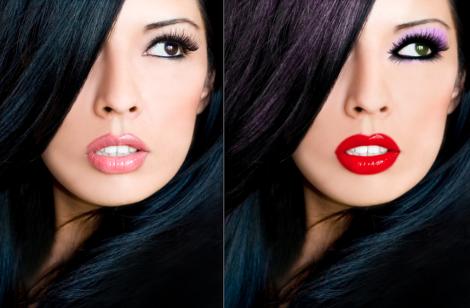 Черные волосы макияж к ним