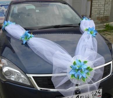 Украшения лентами свадьбы своими руками