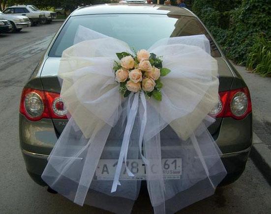 Свадебные украшения на машину своими руками фото