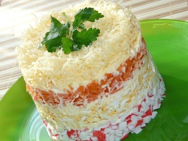 Салат нежный рецепт с слоями