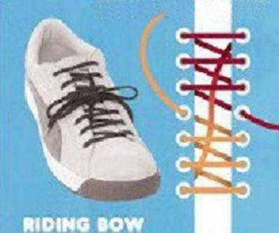 Способ завязывать шнурки — верховая