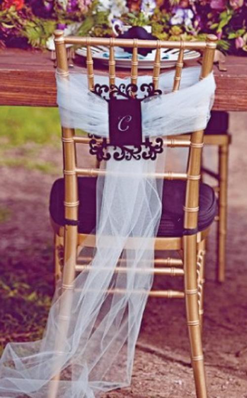 Как украсить стулья фото