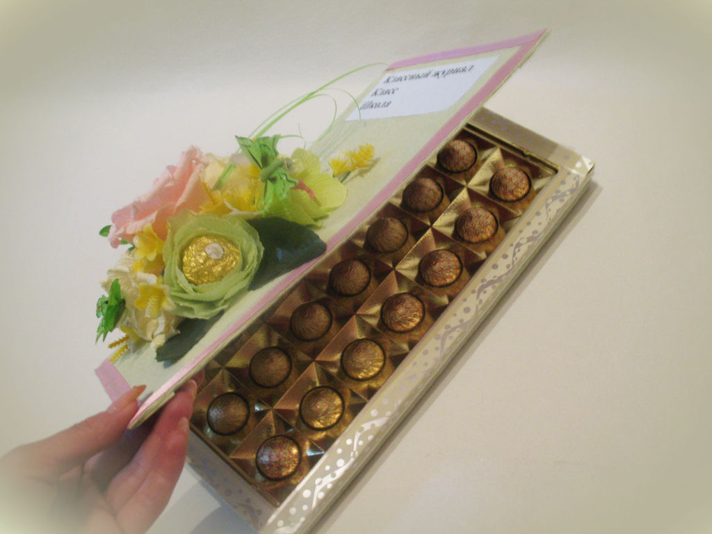 Оригинальный подарок из коробки конфет