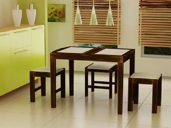 Стеклянные столы для кухни выглядят