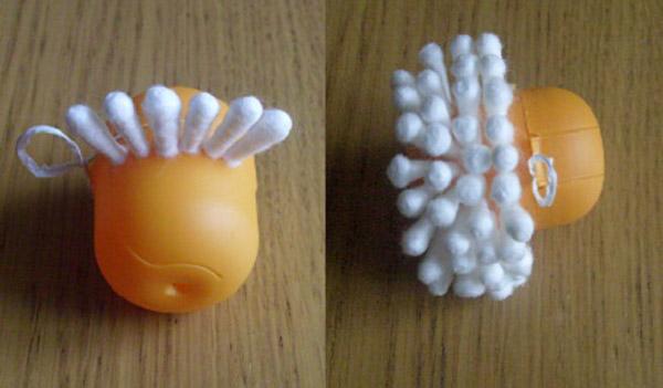 Новогодняя игрушка своими руками из ватных палочек