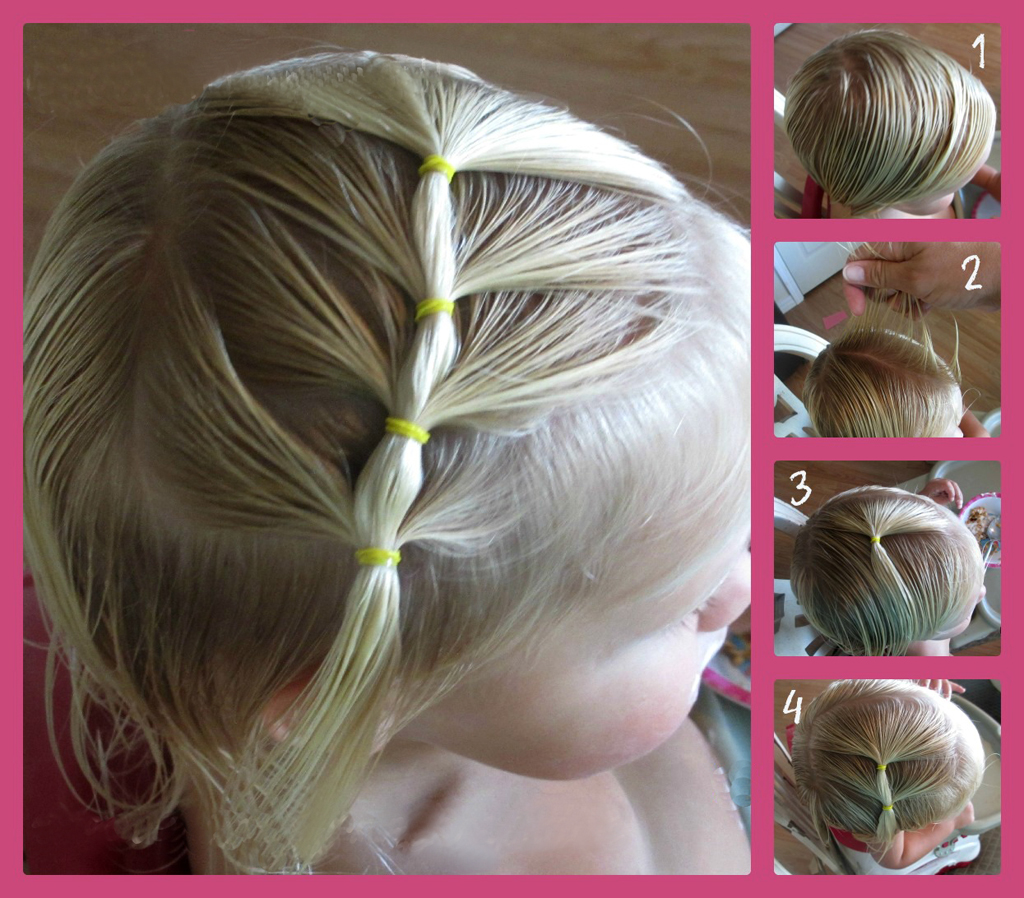 Детские прически на каждый день на средние волосы