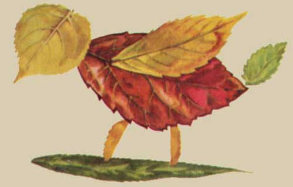 Поделки из листьев или природного материала 36