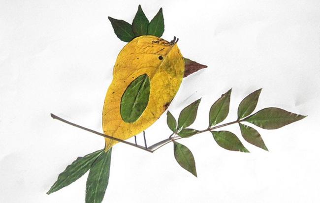 Поделки из листьев или природного материала 52