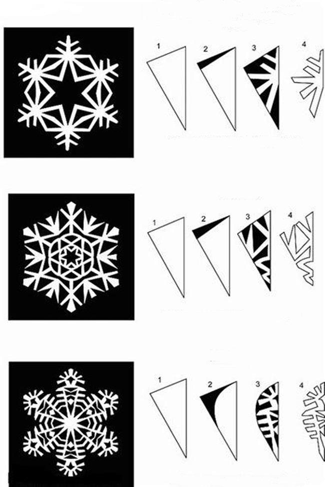Снежинки для гирлянды 130