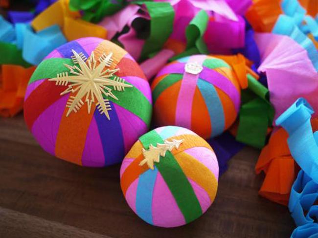 Бумажные новогодние игрушки своими руками новогодний шар