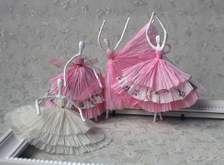 Как сделать балерин из салфеток 261