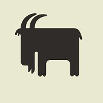 Трафареты на окна к Новому 2015 году: овечки и козы