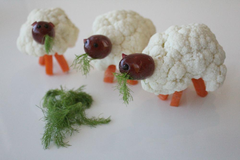 Овечка из цветной капусты: мастер классы, инструкция по изготовлению