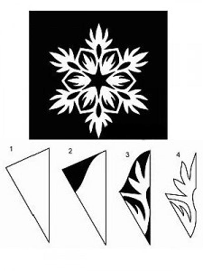 Схемы для вырезания снежинок