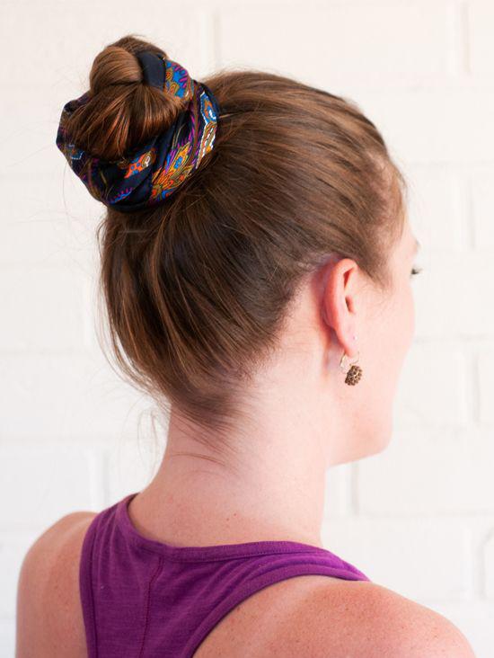 Как красиво завязать платок на голове? Прически с платком на голове