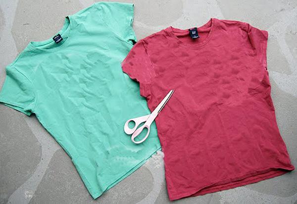 Модные футболки своими руками