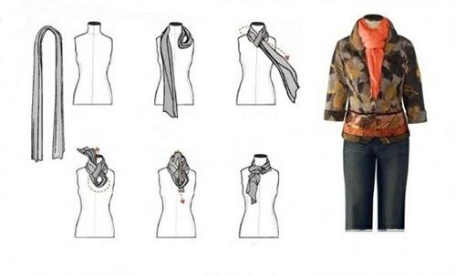 варианты завязывания шарфа