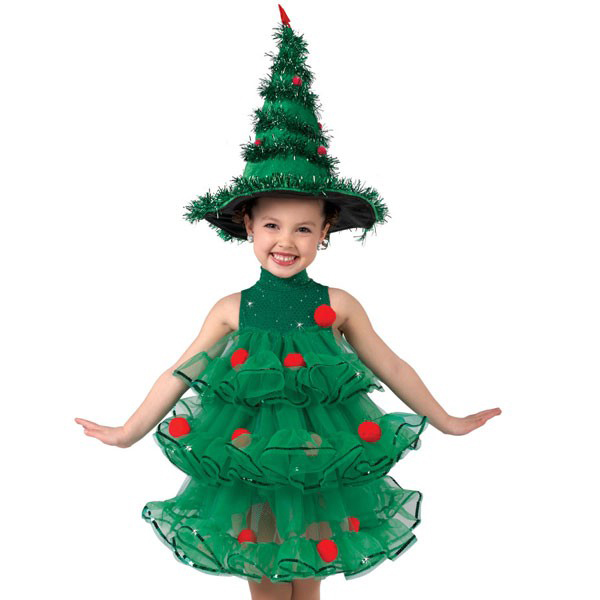 Детский новогодний костюм ёлочка для девочки своими руками