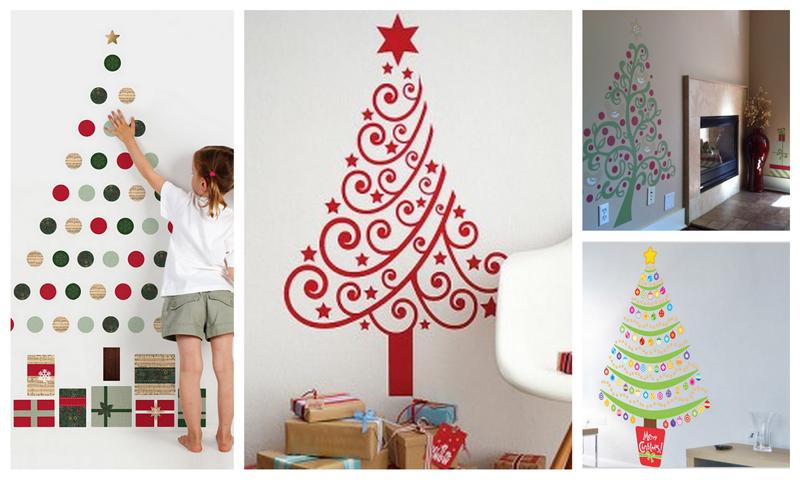 Елка на стене. Как сделать новогоднюю елку на стене?