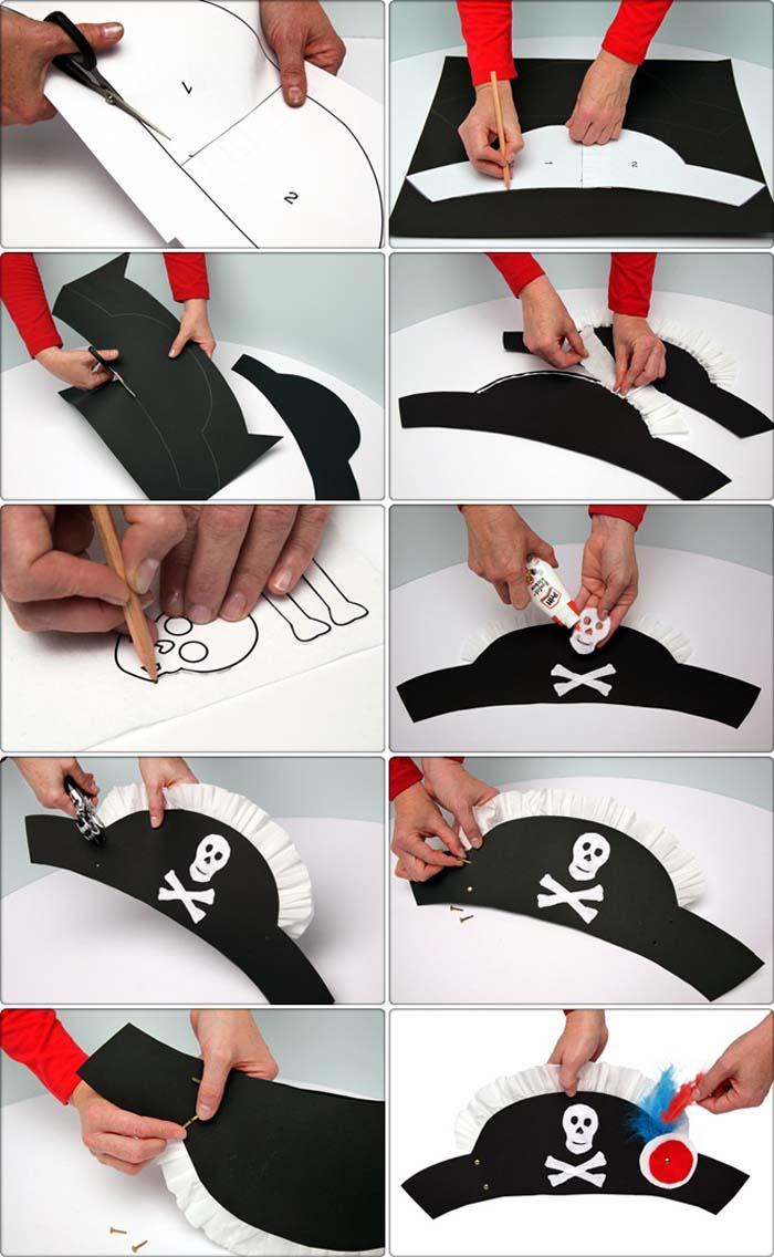 Пиратская шляпа своими руками для девочки