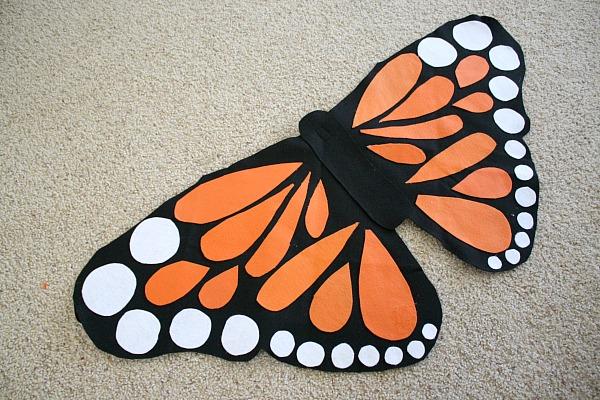Как сделать крылья бабочки для костюма своими
