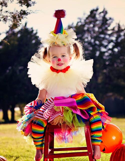 фото клоун девочка