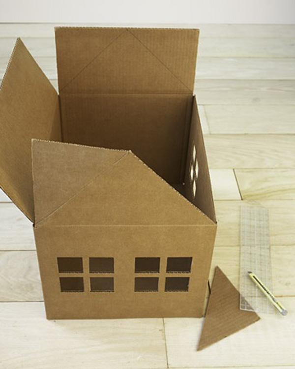Домик для кота своими руками. Как сделать домик для кота из картона?