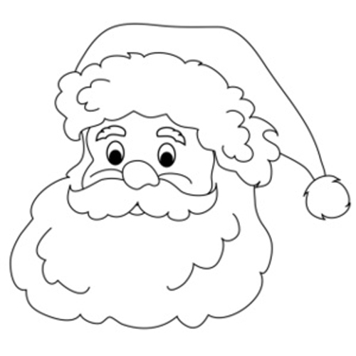 free black and white santa clipart - photo #8