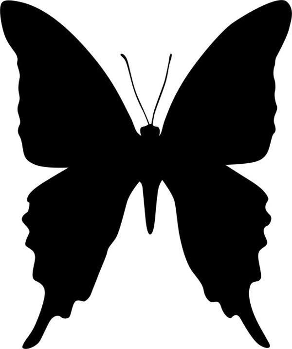 Трафареты бабочек. Трафареты бабочки на стену, окно, как способ декорирования