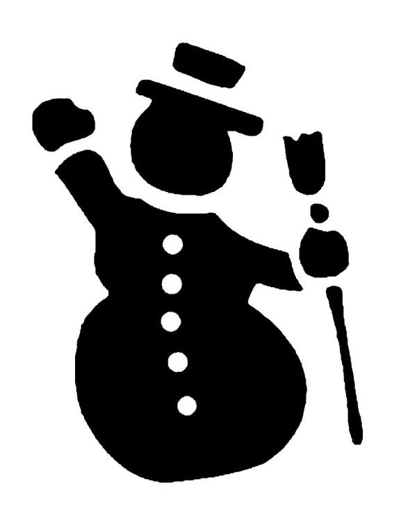 Новогодние трафареты на окна: Дед Мороз, снежинки, снеговики, олени, елки
