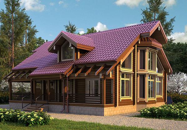 Дома из клееного бруса. Дом из клееного бруса - это строительство под ключ