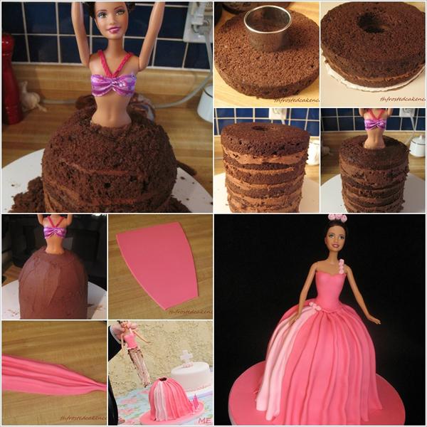 Как сделать торт юбка кукла