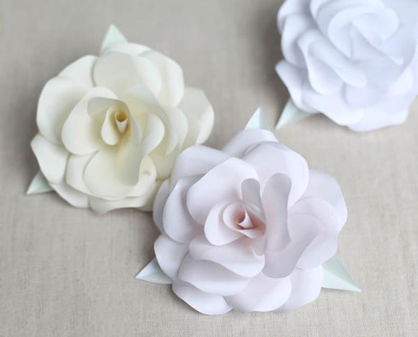 Как сделать объемную розу из бумаги своими