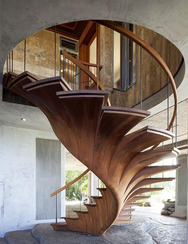 Лестницы на второй этаж. Лестницы деревянные, винтовые, металлические: оригинальные дизайнерские решения и фото