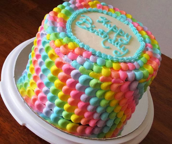 Multicoloured St Birthday Cake Ideas