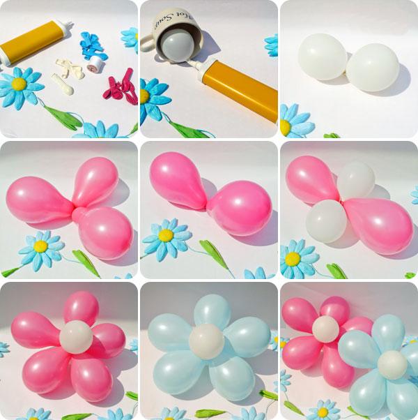 фото пошагово цветы из шаров