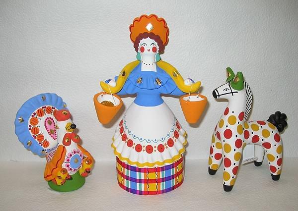 Дымковская игрушка из пластилина мастер класс 12