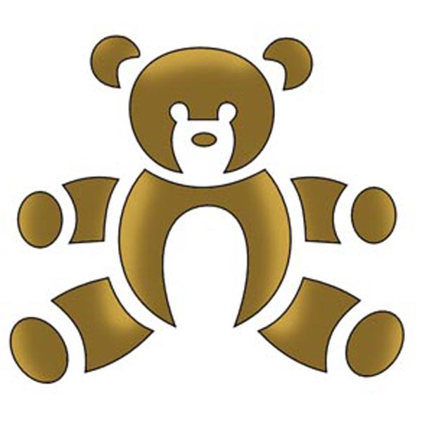 Трафарет медведя. Трафареты медведей на стену, окно, как способ декорирования