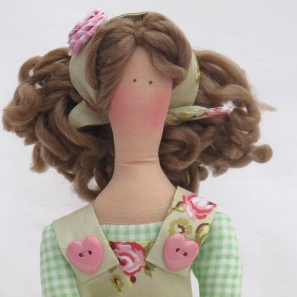 Из чего сделать волосы для куклы тильды