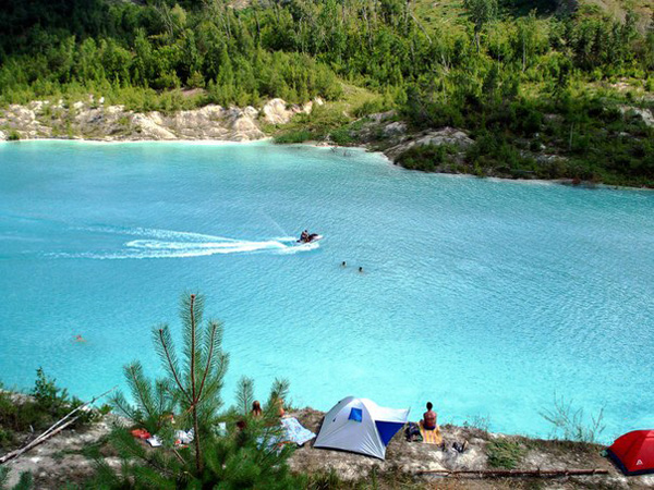 Белорусские Мальдивы: меловые карьеры отдых, фото и как доехать