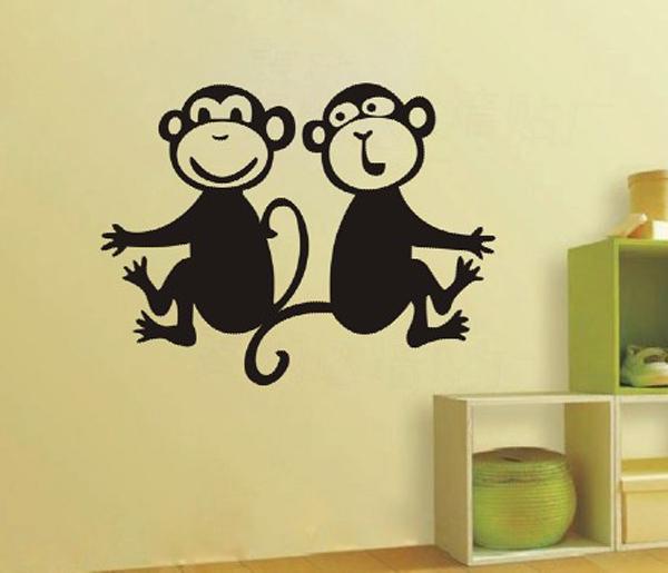 Как украсить окно к новому году обезьяны