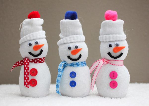 Новогодний снеговик своими руками 2015