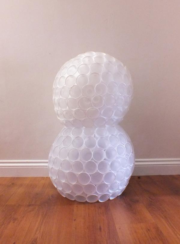 Снеговик своими руками. Снеговик из пластиковых стаканчиков своими руками