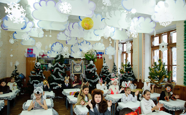Украшения на новый год своими руками для школы