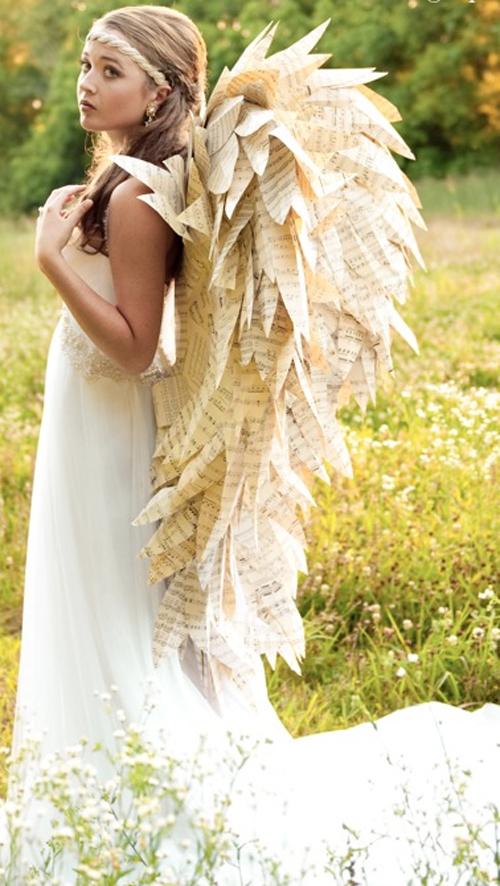 Крылья ангела из бумаги своими руками