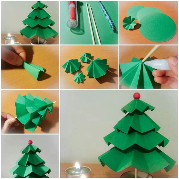 Как сделать из бумаги поделки на елку