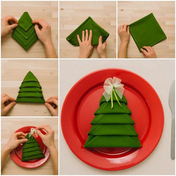 Салфетки для новогоднего стола своими руками