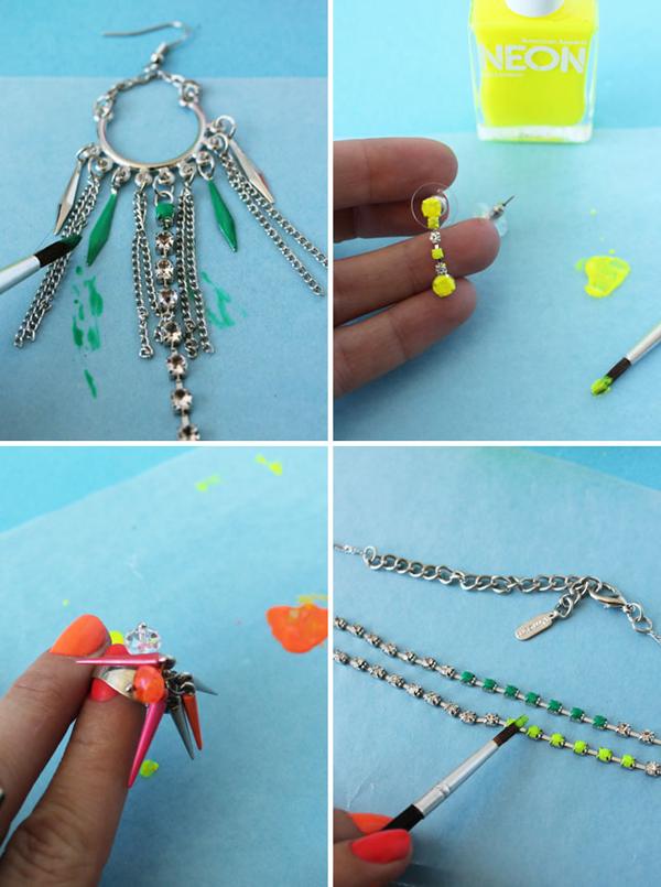 Новые вещи из старых, используя лак для ногтей