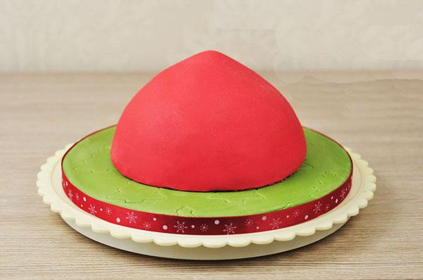 Торт Шапка. Оформление тортов по-зимнему